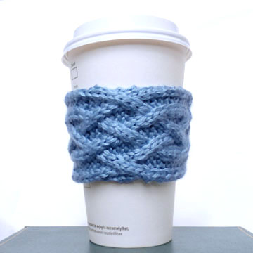 Celtic Plait Coffee Cup Sleeve Purl Avenue