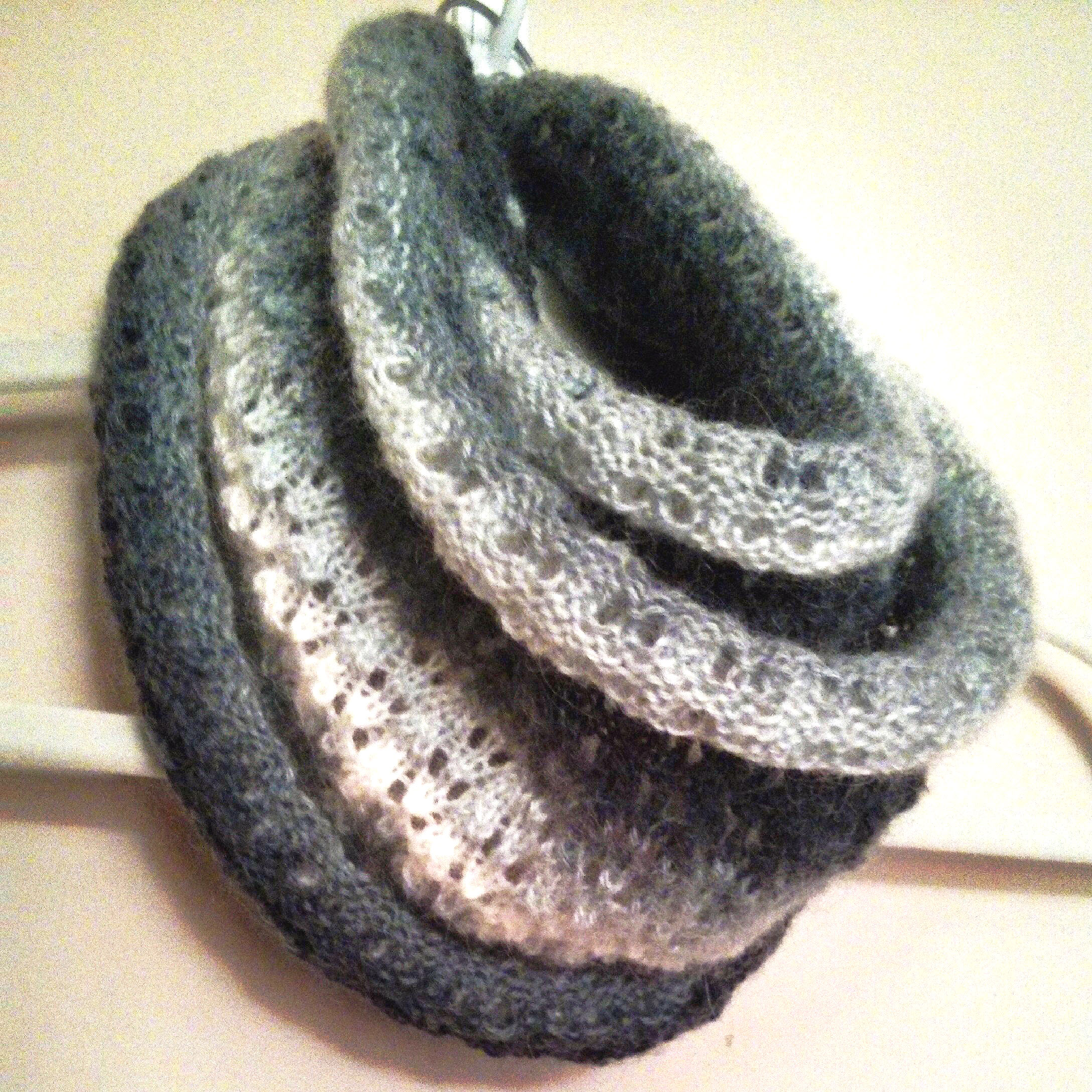 Simple Knit Purl Scarf Patterns : Simple Mohair Lace Scarf Curl - Purl Avenue