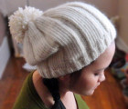 Simple Ribbed Hat With Pom Pom