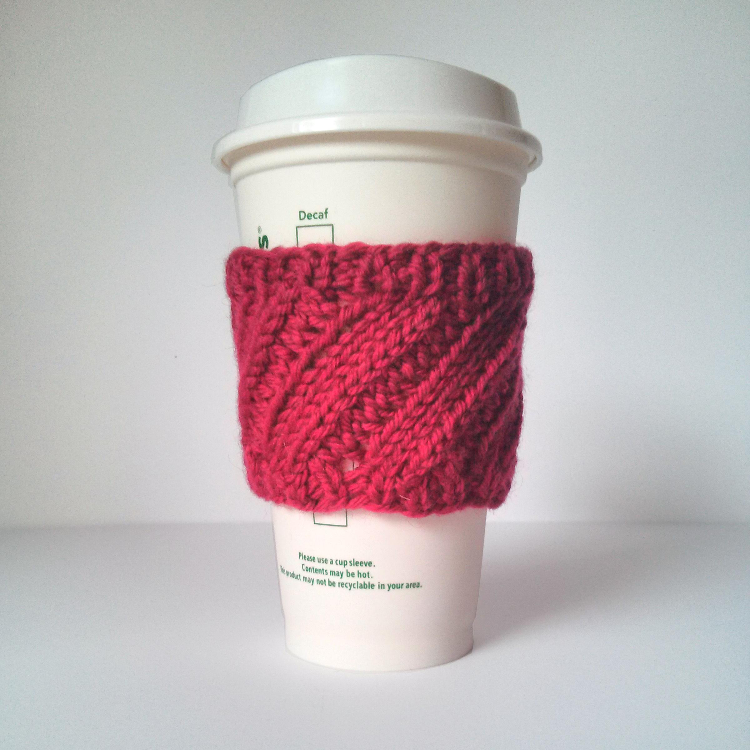 diagonal rib coffee cup sleeve 3 - Purl Avenue