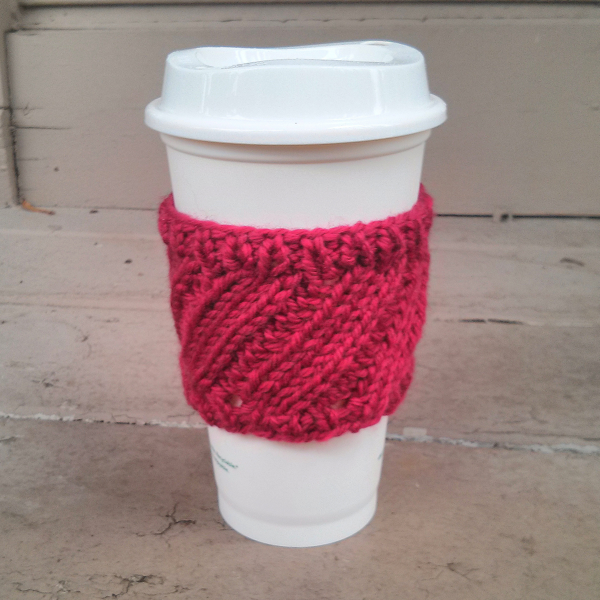 Diagonal Rib Coffee Cup Sleeve
