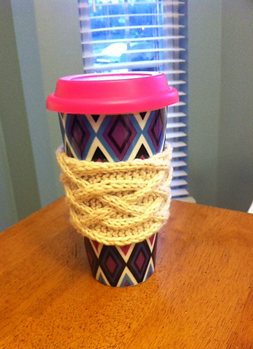 Celtic Plait Coffee Cup Sleeve by KathleenBlass