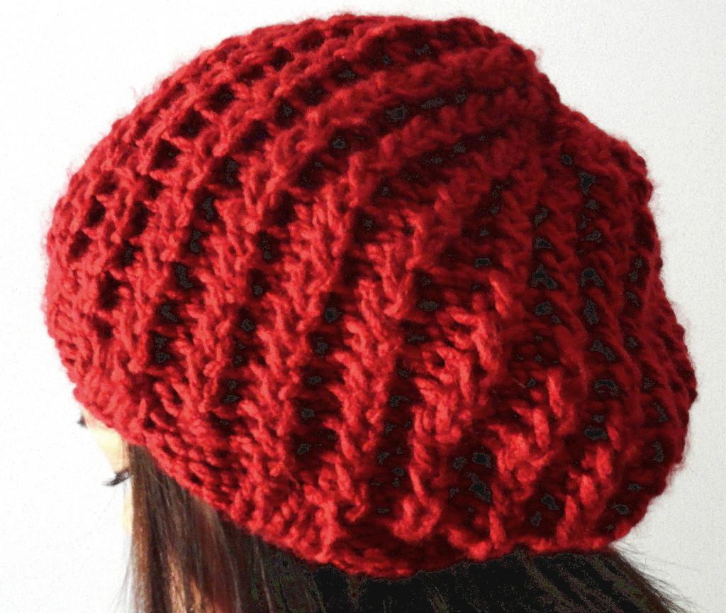 Knit Rib Stitch Hat : Rickrack Rib Slouchy Hat - Purl Avenue