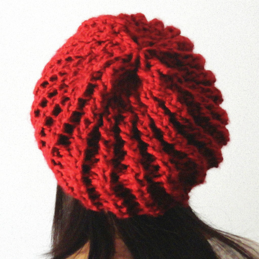 Rick Rack Slouchy Hat Back