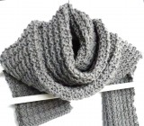 Ridge Rib Men's Scarf