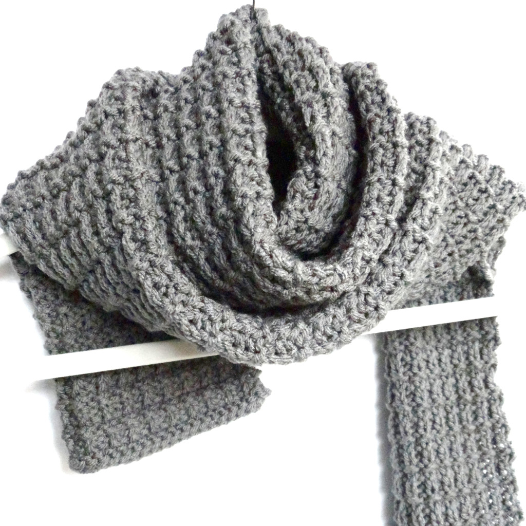 Ridge rib mens scarf purl avenue pattern bankloansurffo Image collections
