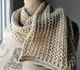 Rustic Ribbed Mesh Scarf