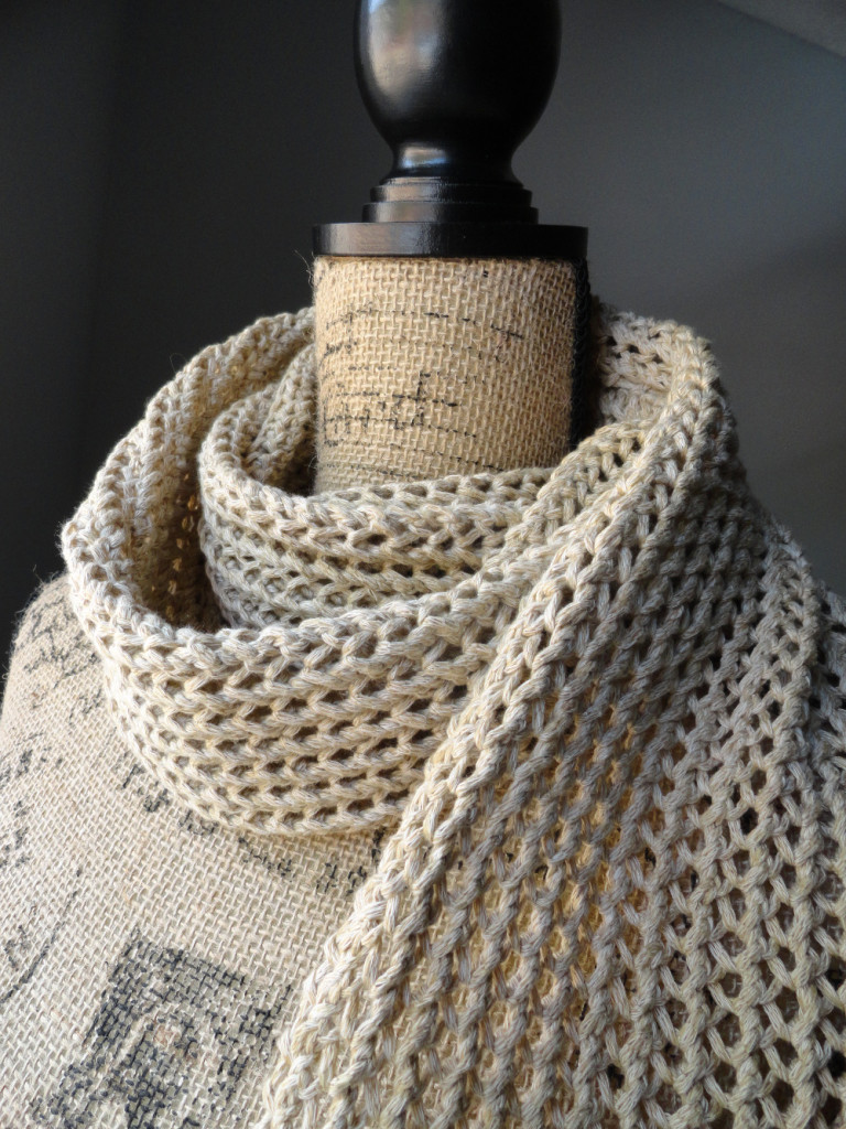 Simple Knit Purl Scarf Patterns : Rustic Ribbed Mesh Scarf - Purl Avenue