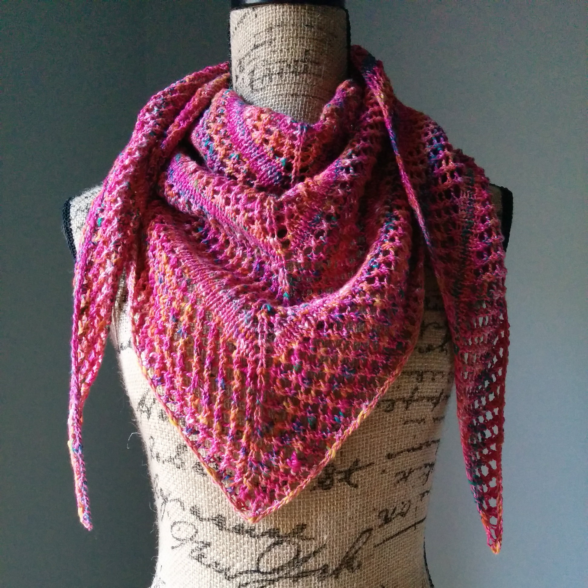 Shawl Knitting Pattern : Casual Lace Knit Shawl - Purl Avenue
