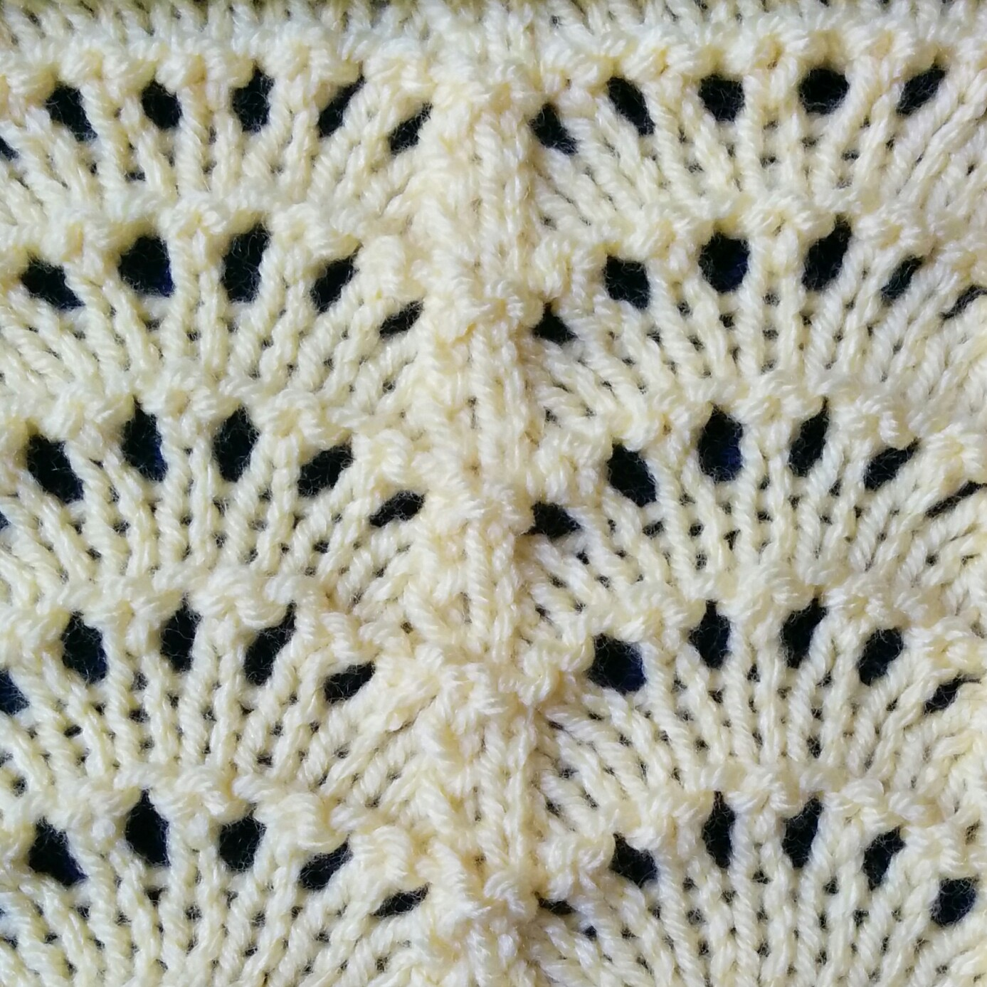 Openwork Lace Knitting Pattern : Fan Stitch - Purl Avenue