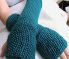 Seeded Fingerless Gloves