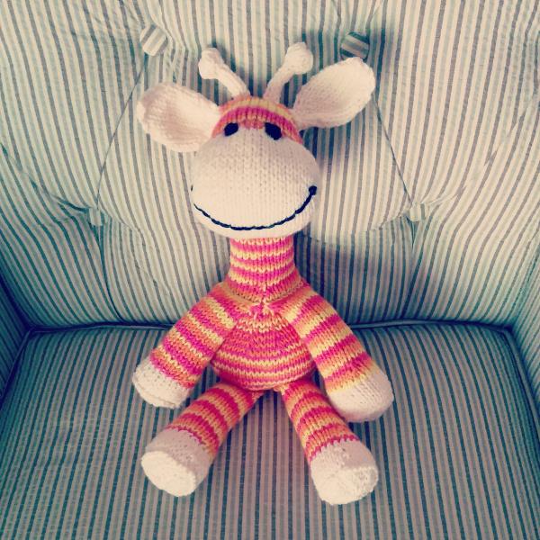 Knitting Patterns For Giraffe Free : Knitted Sock Giraffe - Purl Avenue