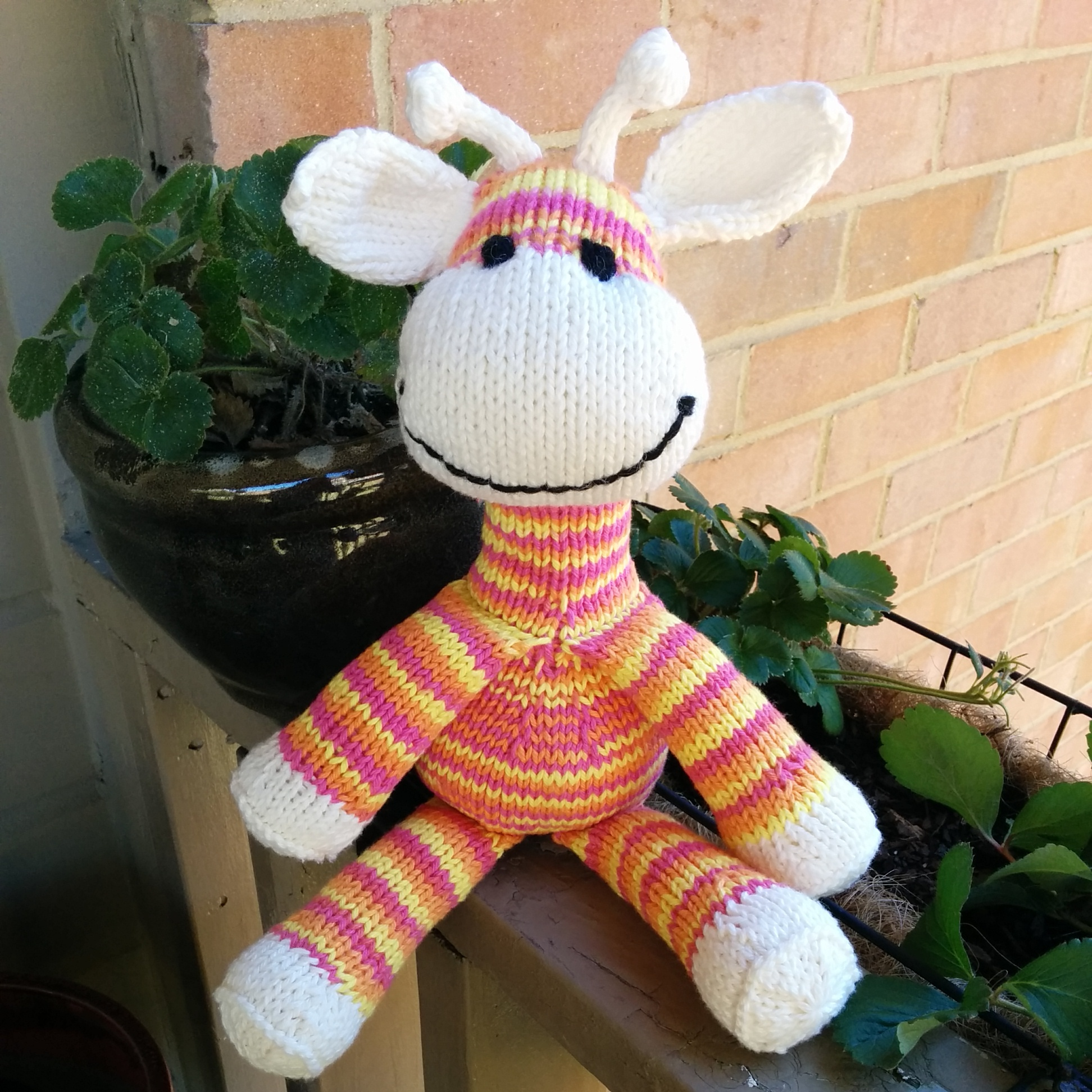 Knitted Sock Giraffe