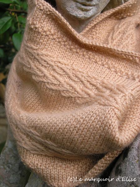 Chevron Linen Cowl by Emmanuelle B.