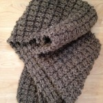 Ridge Rib Men's Scarf by Lynn Adsit