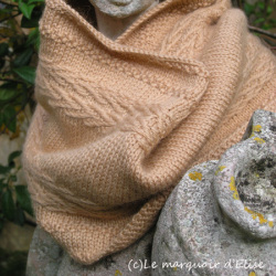 Linen Chevron Cowl by Emmanuelle B.
