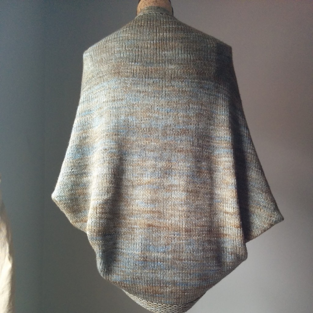 simple knit shrug back