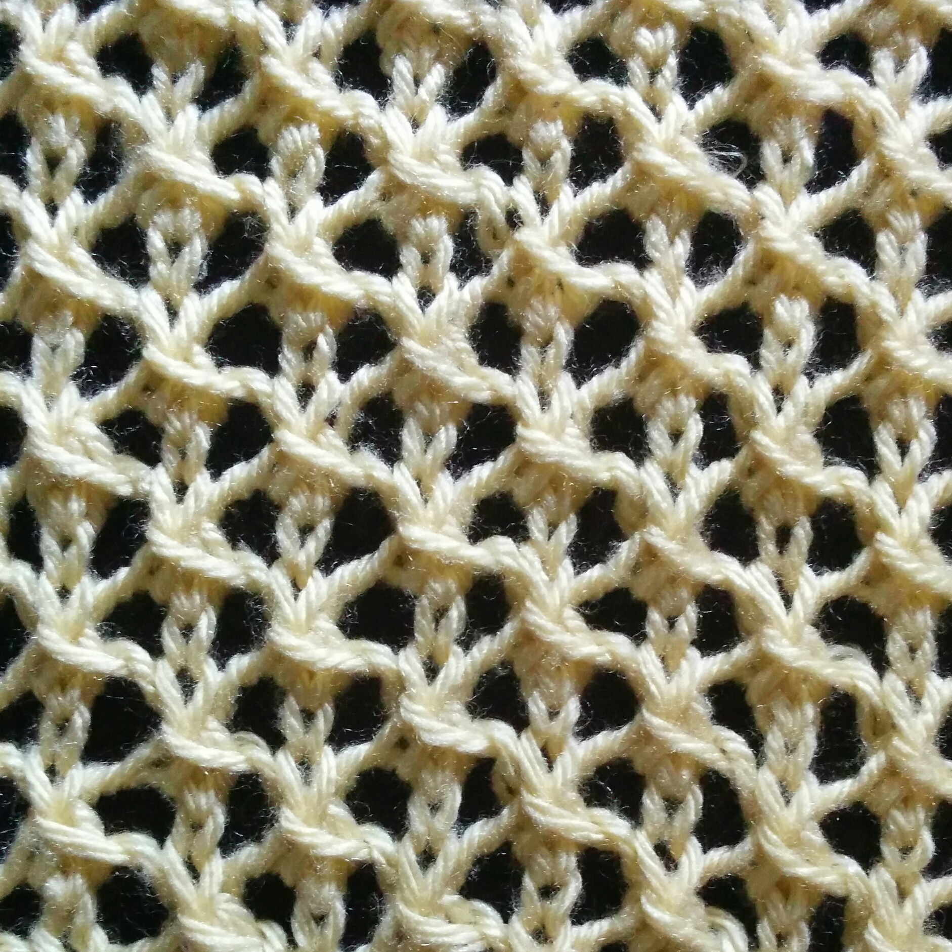 Knitting Stitches Mesh Pattern : Net Stitch - Purl Avenue