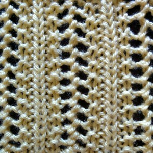 Elaborate Vertical Lace Stitch - Purl Avenue